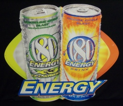 180 Energy Drink Tin Tacker Sign