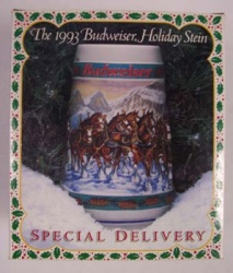 1993 Budweiser Holiday Beer Stein