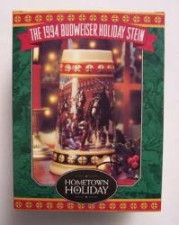 1994 Budweiser Holiday Beer Stein w/box