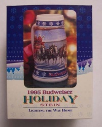1995 Budweiser Beer Holiday Stein