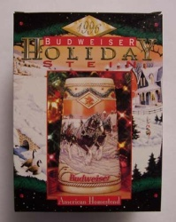 1996 Budweiser Holiday Beer Stein