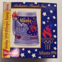 Budweiser Olympic Beer Stein budweiser olympic beer stein Budweiser Olympic Beer Stein 1996budweiserolympic