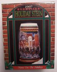 1997 Budweiser Holiday Beer Stein