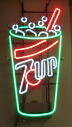 7UP Fountain Soda Cup Neon Bar Sign Light beer sign collection My Beer Sign Collection 2 – Not for sale but can be bought… 7upcup 1