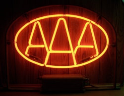 AAA Motor Club Neon Advertising Bar Sign Light  MY BEER SIGN COLLECTION – Not for sale but can be bought… aaa