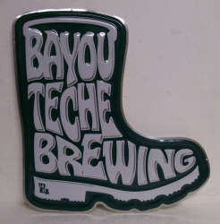 Bayou Teche Brewing Beer Bar Tin Tacker Sign  Bayou Teche Brewing Beer Bar Tin Tacker Sign bayoutechebrewingboottin