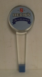 Beck's Oktoberfest Beer Bar Tap Handle