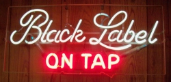 Black Label On Tap Neon Beer Bar Sign Light  MY BEER SIGN COLLECTION – Not for sale but can be bought… blacklabelontap