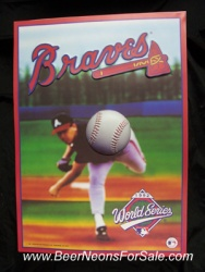 Atlanta Braves 3-D 1992 Baseball Poster