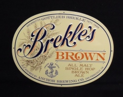 Anchor Brekles Brown Ale Tin Sign
