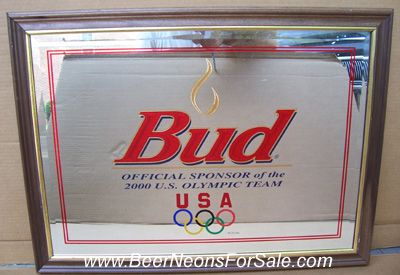 Budweiser 2000 Olympics Beer Bar Mirror