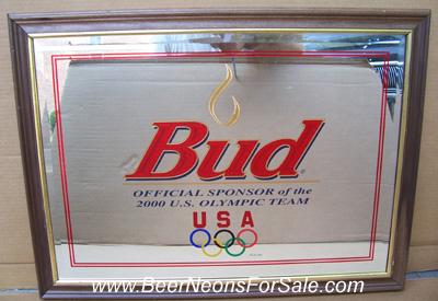 Budweiser 2000 Olympics Beer Bar Mirror