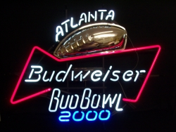 Budweiser Beer Bud Bowl Neon Sign