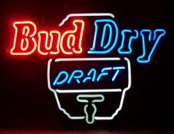 Bud Dry Draft Keg Neon Beer Bar Sign Light bud dry draft beer neon sign Bud Dry Draft Beer Neon Sign buddrydraftkeg