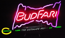 Budweiser Beer Budfari Neon Sign