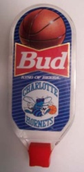 Budweiser Beer NBA Hornets Tap Handle