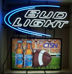 bud light beer clemson neon sign