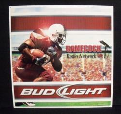 Bud Light Usc Gamecock Radio Network Beer Bar Tin Tacker Sign