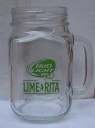 Bud Light Lime Beer Glass