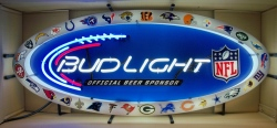 Bud Light Beer NFL Neon Sign  My Beer Sign Collection – Not for sale but can be bought… budlightnflallteam
