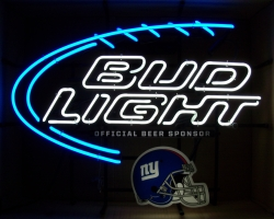 Bud Light Beer NFL Giants Neon Sign