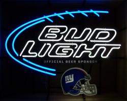 Bud Light Beer NFL Giants Neon Sign