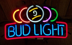 Bud Light Pool Balls Neon Beer Bar Sign Light  MY BEER SIGN COLLECTION – Not for sale but can be bought… budlightpoolballs
