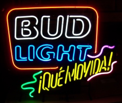Bud Light Beer Que Movida Neon Sign  My Beer Sign Collection – Not for sale but can be bought… budlightquemovida