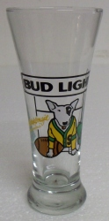 Bud Light Spuds MacKenzie Football Beer Bar Glass Bud Light Spuds MacKenzie Football Beer Bar Glass Bud Light Spuds MacKenzie Football Beer Bar Glass budlightspudsfootballglass