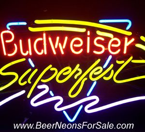 Budweiser Beer Superfest Neon Sign