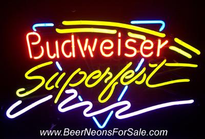 Budweiser Beer Superfest Neon Sign