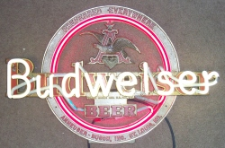 Budweiser Beer Ruby Red Neon Bar Sign Light  MY BEER SIGN COLLECTION – Not for sale but can be bought… budweiserbeerruby