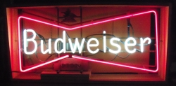 Budweiser Bowtie 3 ft Neon Beer Bar Sign Light No Ship #0: budweiserbowtie3ft