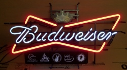 Budweiser Outdoors Neon Beer Bar Sign Light budweiser beer outdoors neon sign Budweiser Beer Outdoors Neon Sign budweiserbowtieoutdoors