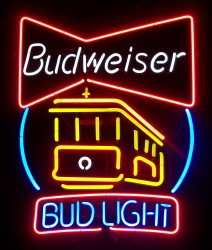 Budweiser Beer Cable Car Neon Sign
