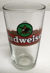 Budweiser Beer Pint Glass