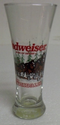 Budweiser Beer Clydesdales Glass