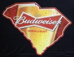 Budweiser Draught South Carolina Beer Bar Tin Tacker Sign budweiser draught south carolina sign Budweiser Draught South Carolina Sign budweiserdraughtsouthcarolinatin