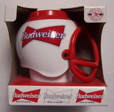 Budweiser Football Helmet Sports Beer Mug Stein