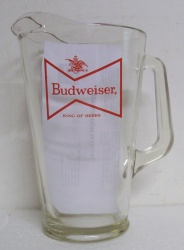 Budweiser Beer Glass Pitcher