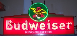 Budweiser Beer Heritage Neon Sign  MY BEER SIGN COLLECTION – Not for sale but can be bought… budweiserheritageblockused