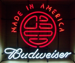 Budweiser Beer Made In American Neon Sign  MY BEER SIGN COLLECTION – Not for sale but can be bought… budweisermadeinamerica2014