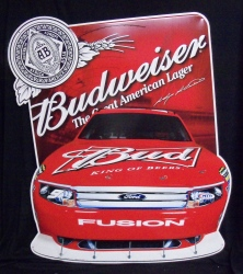 Budweiser NASCAR Kayne 9 Fusion Beer Bar Tin Tacker Sign budweiser nascar kayne 9 fusion beer bar tin tacker sign Budweiser NASCAR Kasey Kahne 9 Fusion Beer Bar Tin Tacker Sign budweisernascar9fusiontin