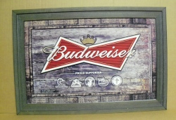 Budweiser Outdoors Beer Bar Sign