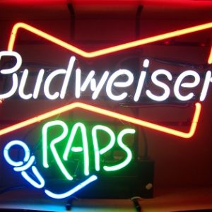 Budweiser Beer Raps Neon Sign