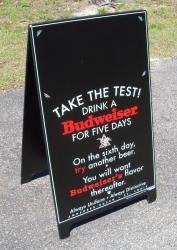 Budweiser Beer Sidewalk Chalkboard