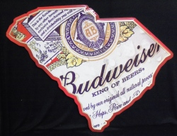 Budweiser Beer South Carolina Tin Sign