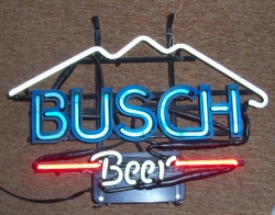 Busch Beer Mini Neon Bar Sign Light  MY BEER SIGN COLLECTION – Not for sale but can be bought… buschbeermini