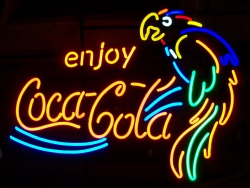 Coca Cola Parrot Neon Soda Bar Sign Light