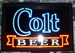 Colt Beer Electriglas Neon Sign